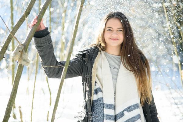 Fotoshooting im Winter für Portraitfotos in Amberg