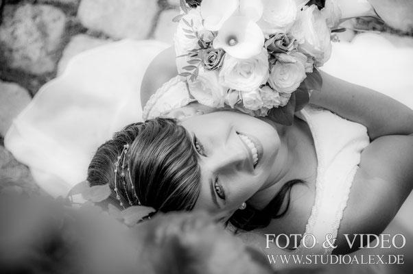 Hochzeitsfotos von der Braut in Nürnberg