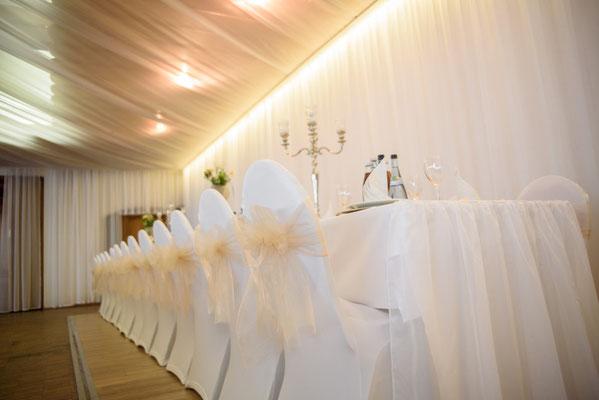 Hochzeitsdekoration  im Böhmfelder Hof in Ingolstadt