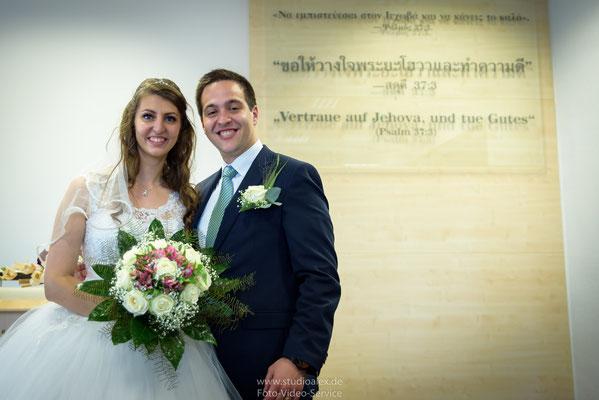 Hochzeit in Königreichssaal von Zeugen Jehovas in Hamburg
