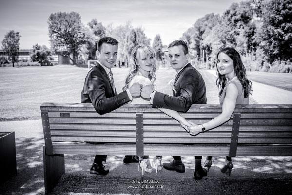 Gruppenfotos für die Hochzeit in Deggendorf