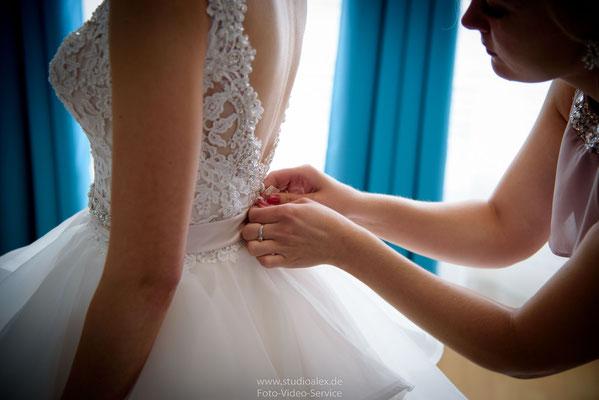 Hochzeitsfoto Vorbereitung der Braut