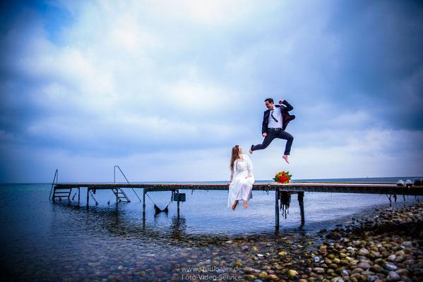 Hochzeitsfotografie Ideen lustige Hochzeitsfotos