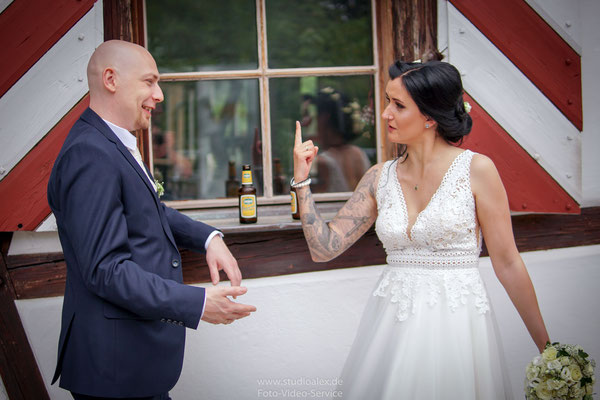 Lustige Hochzeitsbilder Nürnberg Franken