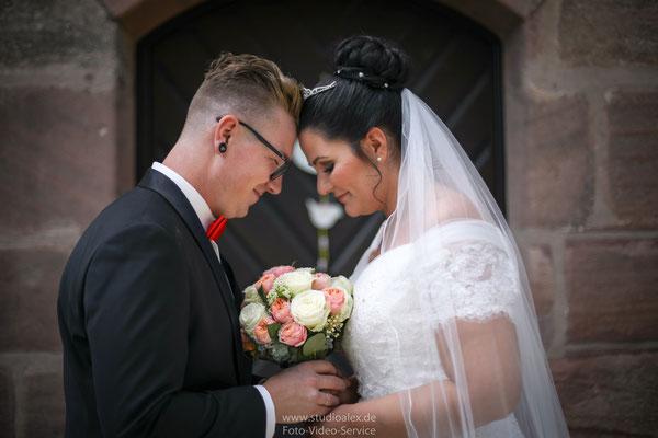 Hochzeitsfotos standesamtliche Trauung Fischbach Nürnberg