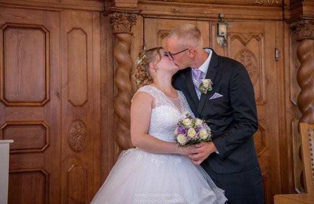 Hochzeitskuss in Sulzbach-Rosenberg