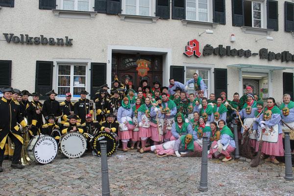 Unterwegs zusammen mit den Sändleschränzer in Heiligenberg 2013