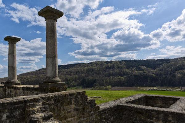 Le plateau de Ferschweiller vu depuis les ruines de la villa romaine