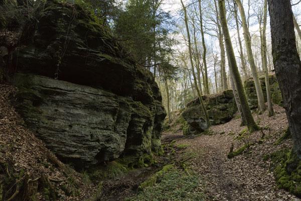 La terre des Ours, Le canyon de Schweineställe, Ferschweiler plateau