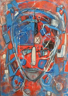Fragmentiert Mischtechnik auf Leinwand 50 x 70 cm/ Expressive Malerei/Grafik