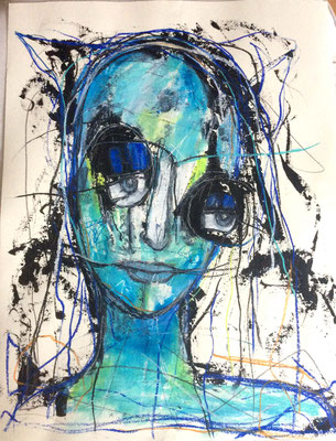 Blickkontakt/ 50 x 70 cm