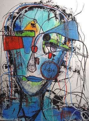 Navigator/ Mischtechnik auf Papier /Expressive Grafik 50 x 65 cm