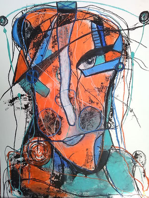 Good Morning/ 50 x 70 cm/Mischtechnik auf Papier