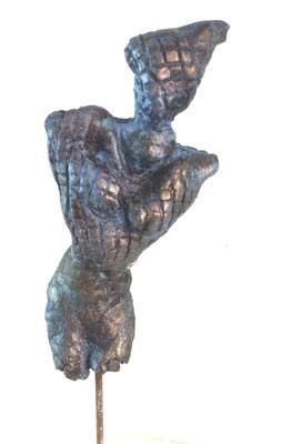 o.T. Skulptur aus Ton mit Patina (verkauft)