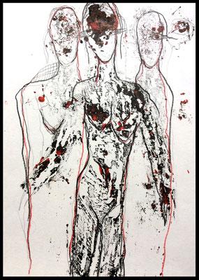 Monoprint 16/Druckgrafik/Zeichnung auf Papier