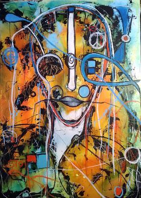 Wenn Gedanken fliegen / 50 x 70 cm (verkauft)