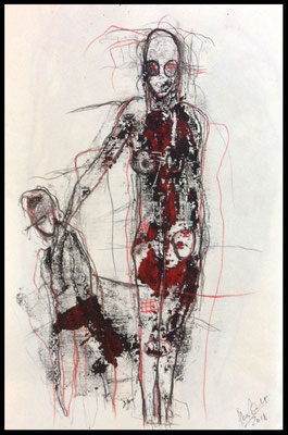 Monoprint 23 /Druckgrafik/Zeichnung auf Papier