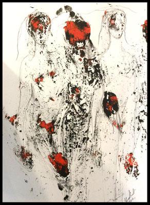 Monoprint 12 /Druckgrafik/Zeichnung auf Papier