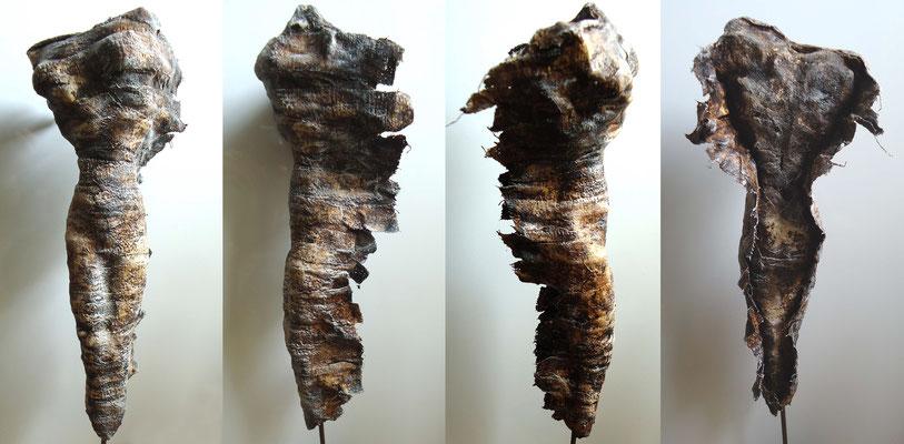 Enthüllung Skulptur aus Ton/Gaze und Kaltbemalung