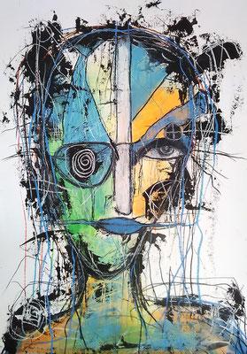 Unlimited /Mischtechnik auf Papier /Expressive Grafik 50 x 65 cm