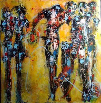 Believe in me...Mischtechnik auf Leinwand 50 x 50 cm