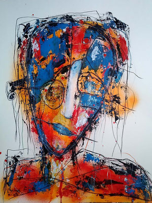 Fragil 24 Mischtechnik auf Papier 50 x 65 cm