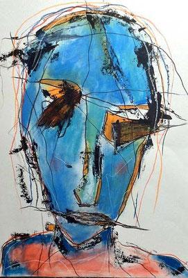 untitled/ 50 x 70 cm (verkauft)/Mischtechnik auf Papier