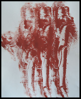 Monoprint 13 /Druckgrafik auf Papier
