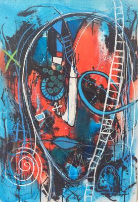 Getaway/ 50 x 70 cm/Mischtechnik auf Leinwand