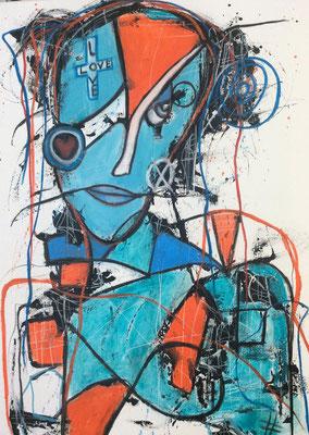 Searching for love/ Mischtechnik auf Leinwand 50 x 70 cm