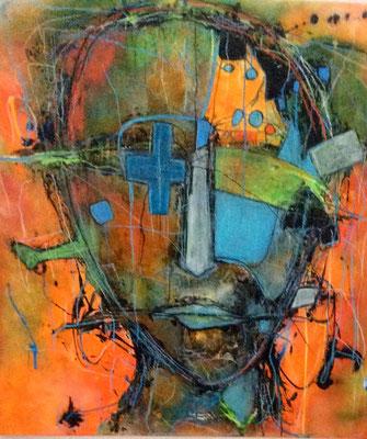 Freigeist II Mischtechnik auf Leinwand 100 x 100 cm/ Expressive Malerei/Grafik