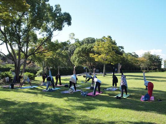 青空ヨガイベント 仏生山公園