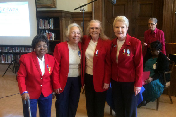 Celestine Hollings, Honoree Peggy Williams, Patricia Werner and Nancy Skerchock