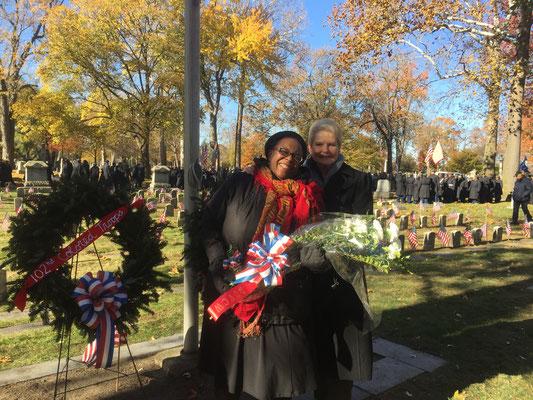 Yulanda Burgess and Nancy Skerchock