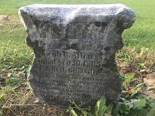 Civil War Veteran, Jacob C. Allen (1827-1895) - Campbellsburg Second Baptist Church Cemetery, Campbellsburg, Kentucky