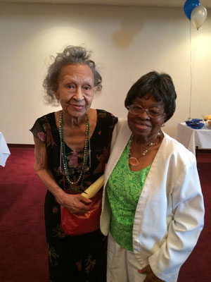Ada Mae Maxwell with Celestine Hollings