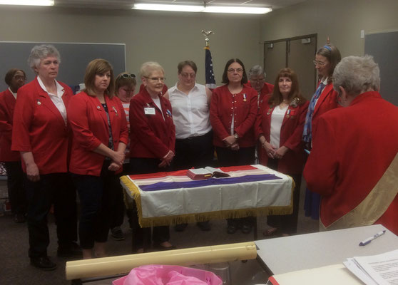 National President Sally Redinger performs the initiation of new Department Officers