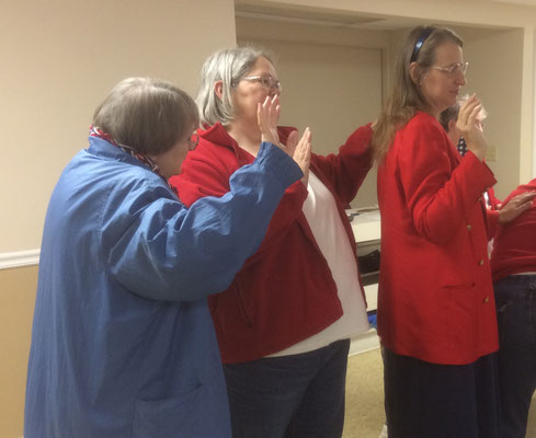 Installation of new officers - Rolene, Diane, Cynthia