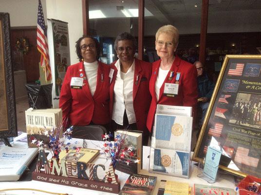 Hosting the DUVCW information table were Tent 3 Sisters:  Nancy M. Skerchock, President - Yulanda Burgess, Secretary - Patricia Perry, Press Correspondent/Historian