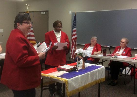Tanya Jordan-Jackson recites a memorial tribute honoring the memory of Tent 3's Sister Elizabeth Cannon