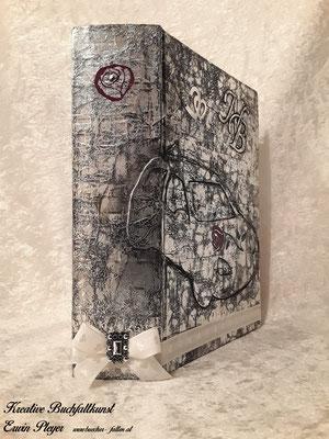 Buchcover im Aludesign für zwei Autofreunde mit einer Rose C14