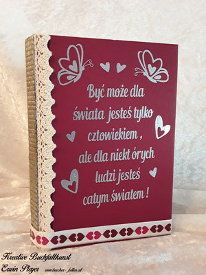 Foliencover mit polnischem Spruch