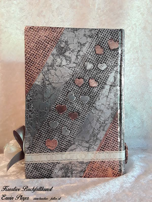 Kombination aus Alucover und Kupfercover mit vielen kleinen Herzen C08