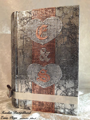 Kombination auf Alucover und Kupfercover, Initialen in Kupfer, Rest in Alu C05