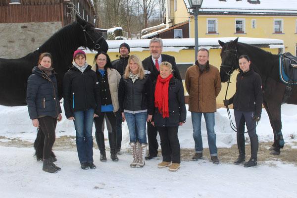 Einige Mitglieder mit dem Bürgermeister der Stadt Wunsiedel Karl-Willi Beck