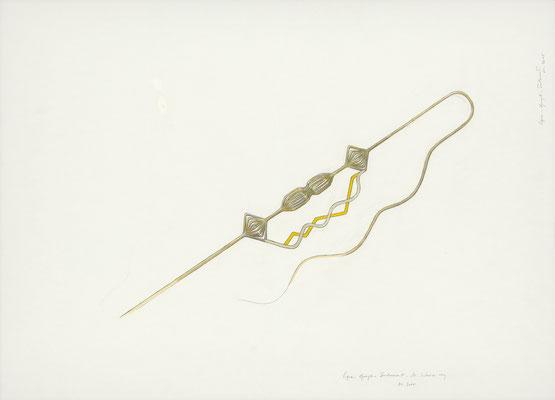 quelque chose comme ça II    2015 – Gouache und Bleistift auf Papier / gouache et crayon sur papier – 59,5 x 84 cm