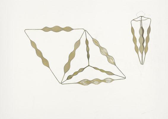petite structure pour rien II    2014 – Gouache und Bleistift auf Papier / gouache et crayon sur papier – 59 x 84 cm