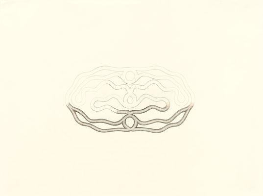 (1)  2014 – Bleistift und Buntstifte auf Papier / mine de plomb et crayons de couleur sur papier – 48 x 64 cm