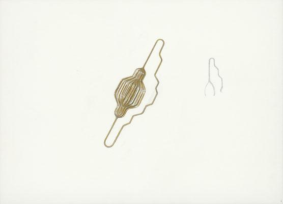 quelque chose comme ça    2015 – Gouache und Bleistift auf Papier / gouache et crayon sur papier – 59,5 x 84 cm