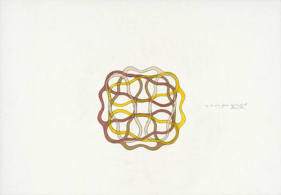 punkt    2015 – Gouache und Bleistift auf Papier / gouache et crayon sur papier – 42 x 59,4 cm